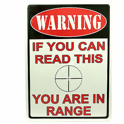 "Tin Sign ""You Are In Range"" Wall Decoration by Rivers Edge ~ 1510"