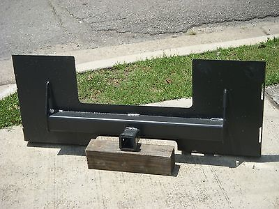 Bobcat Skid Steer Attachment Trailer Hitch Receiver Mount Plate - Free Ship