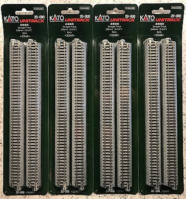 NEW KATO N GAUGE UNITRACK 20-000 S248 STRAIGHT TRACK PACK (4pc) 248mm x4 PACKS