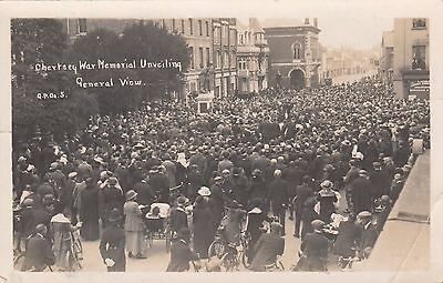 Chertsey War Memorial Unveiling, Surrey, Real photo, old postcard, unposted