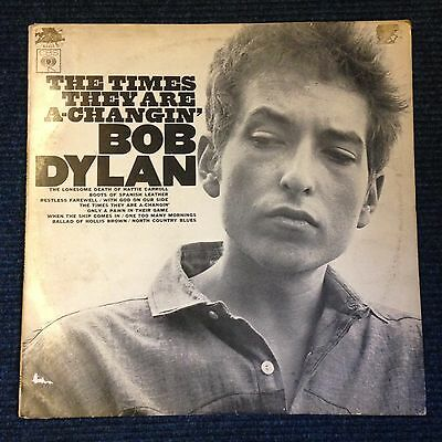 Bob Dylan The Times They Are A-Changin' Vinyl 1964
