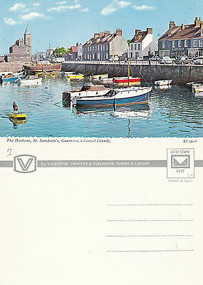 1970's THE HARBOUR St SAMPSONs GUERNSEY CHANNEL ISLANDS UNUSED COLOUR POSTCARD b