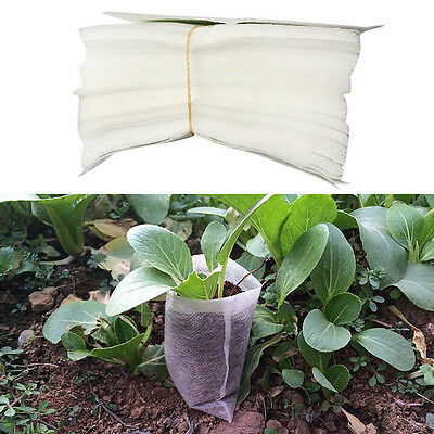 100 PCS Pots Seedling Potting Mix Raising Fabric Bulk Supply Garden Nursery Bag