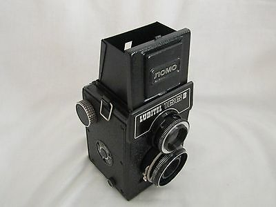 Vintage Lubitel Camera with lens cap and case
