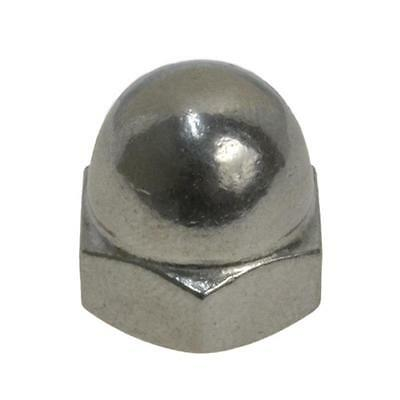"""Dome Nut 1 Piece 3/8"""" UNC Imperial Coarse BSW Acorn Hex Cap Stainless Steel G304"""