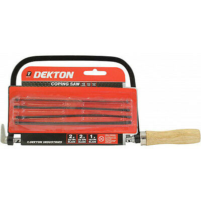 NEW DEKTON Professional Coping saw Comes complete with 5 extra blades DIY Tool