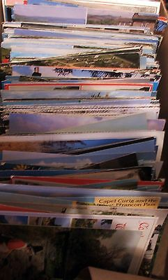 BOX OF OLD POSTCARDS - VARIOUS UK Mainly 50's - 70's
