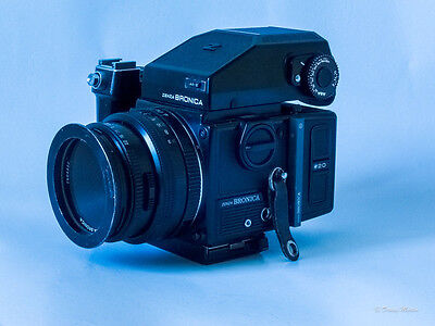 Bronica ETRSi with Speedgrip and f/2.8 75mm lens