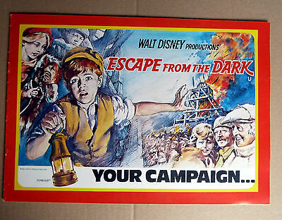 WALT DISNEY * ESCAPE FROM THE DARK - WR - UK-CAMPAIGN BOOK 8 Seit. ENGLISH ´76