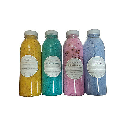 Bath Salts Dead Sea Therapeutic Relax Made In UK 550g 4 Fragrances Mother's Day