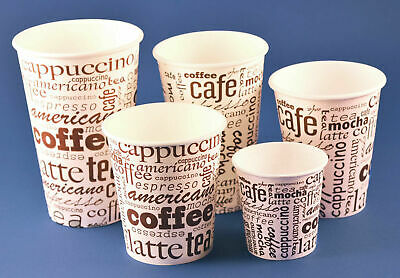 1000 Coffee to go Becher 0,2l 0,3l   Hartpapierbecher Pappbecher Kaffeebecher