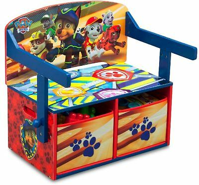 Delta Children Paw Patrol Convertible Bench Desk With Storage, Toy Storage
