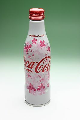 Coca Cola Japan Sakura Aluminium Bottle NEW FULL Spring Edition Cherry Blossom