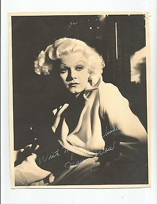 JEAN HARLOW SIGNED (Uncertified) PUBLICITY PHOTOGRAPH