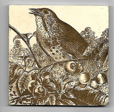 Good Victorian Bird Tile- Possibly Wedgwood