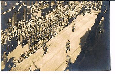 Private Postcard C1919 Wwi Victory Parade Unknown Location