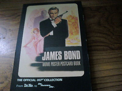 James bond movie postcard book, the official 007 collection.