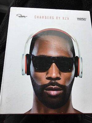 WESC Chambers by RZA Street Ear-Cup (Over the Ear) Headphones White/Red New NIB