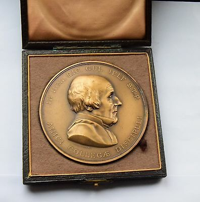 MEDICAL KING'S COLLEGE LONDON JELF MEDAL gilt bronze 75mm by J.S & A.B. Wyon