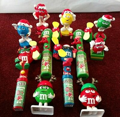 M&M candy dispenser/fans and bobbleheads
