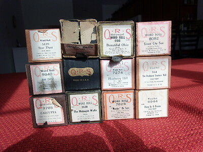 Vintage Lot of ~12~ Piano Player Rolls QRS Variety of Music