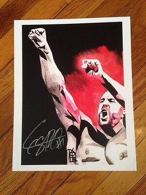 "WWE Cesaro SIGNED 11"" x 14"" Rob Schamberger Print"