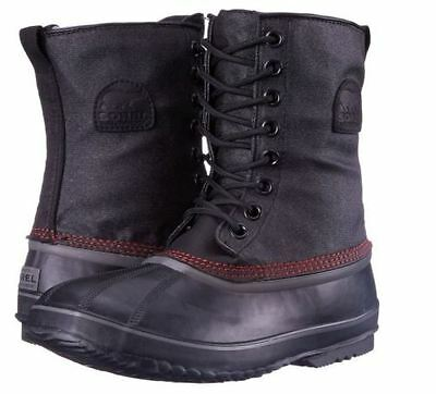 NEW Sorel Men's 1964 Premium T CVS Waterproof Snow Boots- Black, Sail Red