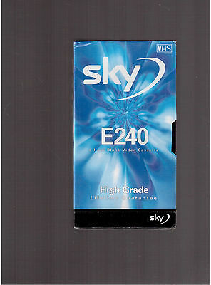 Sky E240 4 hours blank video cassette high grade lifetime guarantee in packaging