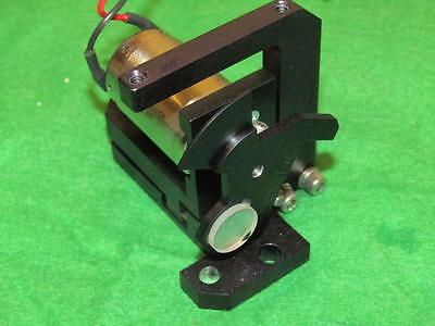 Laser Beam Mirror With Rotary Solenoid On Mount.