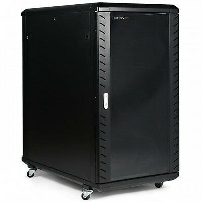 NEW! Startech.Com 22U 36In Knock-Down Server Rack Cabinet With Casters RK2236BKF