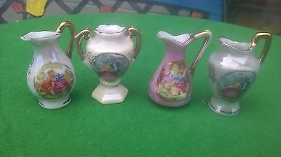4 X Dolls House Vase And Jugs