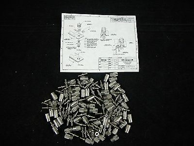 ITT Cannon Miniature D Type Connector Stainless Steel Jack Screws Locking Fixing