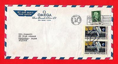 US Postal Cover - Omega Watches: Kennedy Space Centre - Apollo 15 Launch - 1971