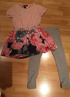 Girls Leggings And Dress Set From Next Age 9