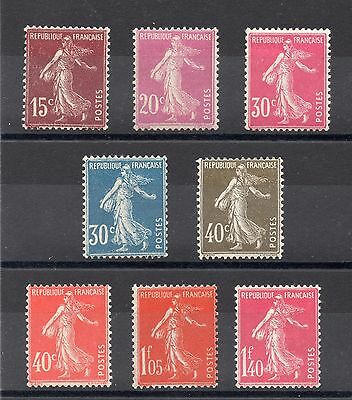 FRANCE: SERIE COMPLETE DE 8 TIMBRES NEUF* YTN°189/196 Cote: 46,00€
