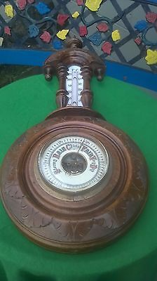 Antique Barometer / French ? Walnut / Rosewood