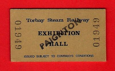 Torbay Steam Railway Ticket - Admission to Exhibition Hall: Paignton - 1979