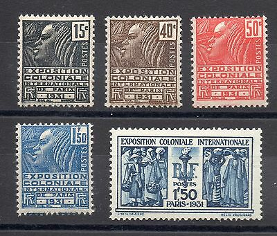 FRANCE: SERIE COMPLETE DE 5 TIMBRES NEUF* YTN°270/274 Cote: 66,00€