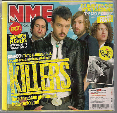 The Killers NME Birthday /Greeting Card +Fold Out Poster 2008 New Sealed UK