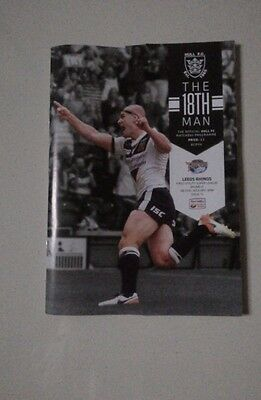 Hull v Leeds Rugby League Programme 8 July 2016 Super League