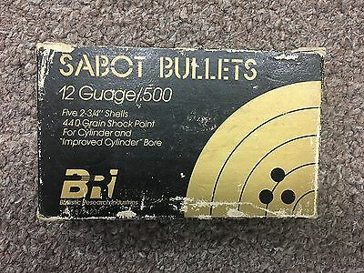 Empty Sabot BRI Ballistic Research Industries 5 pack 12ga slug shotshell box