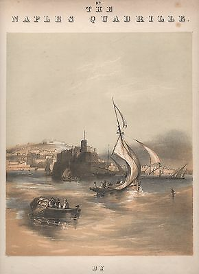 Five finely illustrated mid.19th. century music sheet covers showing Cities