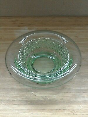 Small Green glass bowl dish nibbles sweets olives preserves sauces