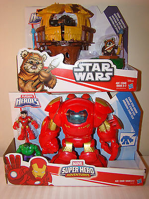 Playskool Iron Man Stark Tech Armor Star Wars Endor Adventure Action Figure Lot