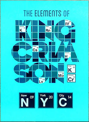 KING CRIMSON The Elements Of NYC Limited Edition RARE HUGE Litho Poster! (Gray)