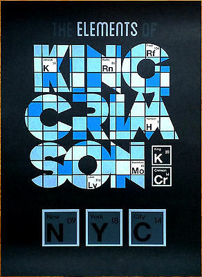 KING CRIMSON The Elements Of NYC Limited Edition RARE HUGE Litho Poster! (Black)