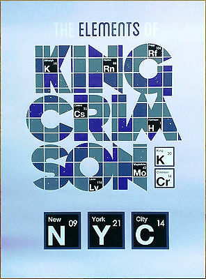 KING CRIMSON The Elements Of NYC Limited Edition HUGE RARE Litho Poster! (Pink)