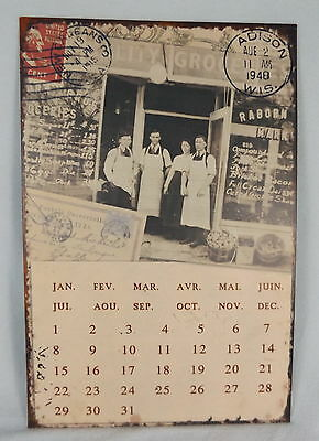 Reproduction French Themed Perpetual Tin Calander