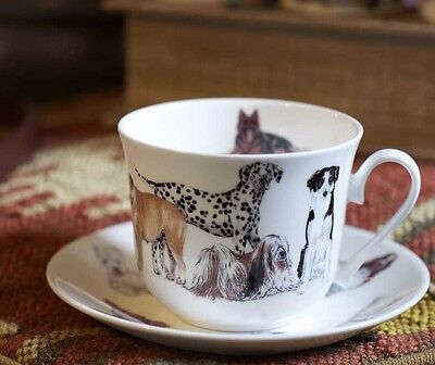 Roy Kirkham Pedigree Dog Lovers Bone China Large Breakfast Cup & Saucer Gift Box