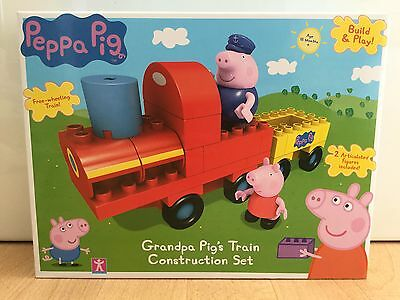 Peppa Pig Grandpa Pigs Train Construction Set - NEW